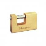 """Master Lock Oρθογώνια Λουκέτα """"ΤΑΚΟΙ"""" με ατσάλινο λαιμό 76mm"""
