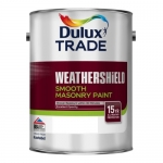 Dulux Trade Weathershield Smooth Masonry Paint Ακρυλικό Χρώμα Λευκό 2.5lt