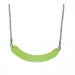 Κούνια Πράσινη Πλαστική Με Σχοινί (Έυκαμπτη)
