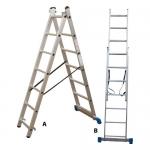 Σκάλα Αλουμινίου Πτυσσόμενη Ελαφρού Τύπου 2Χ8 Σκαλοπάτια Profal