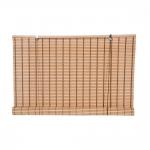 Στόρι Bamboo Roll-Up Με Διακοσμητική Πλέξη Φυσικό