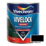 Vivelock Gloss 24 Μαύρο 750ml