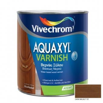 Aquaxyl Varnish Satin 707 Dark Walnut Καρυδιά Σκούρα 750ml