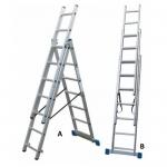 Σκάλα Αλουμινίου Πτυσσόμενη Ελαφρού Τύπου 3Χ10 Σκαλοπάτια Profal