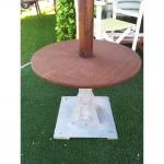 Ξύλινο Bοηθητικό Tραπεζάκι Ομπρέλας ø40cm