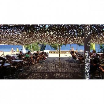 Δίχτυ Παραλλαγής Sand 120gr/m² Μπέζ Άμμου 300x300cm