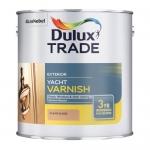 Dulux Trade Exterior Yacht Varnish Διαφανές Γυαλιστερό Βερνίκι Διαλύτου 1lt
