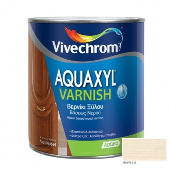 Aquaxyl Varnish Satin 713 White Λευκό 750ml