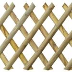 Φράχτης Χιαστό Μισόξυλο 5cm 80x250cm
