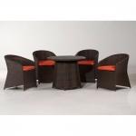 Καθιστικό Αλουμινίου Με Πλέξη Συνθετικού Rattan Καφέ