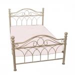 Κρεβάτι Σιδερένιο Κρέμ Αντικέ Μονό