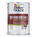 Dulux Trade Weathershield Maximum Exposure Smooth Masonry Ακρυλικό Ελαστομερές Χρώμα Λευκό 9lt