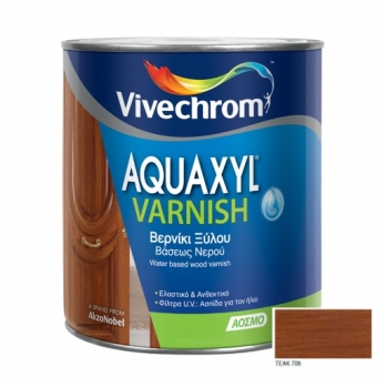Aquaxyl Varnish Satin 708 Teak Τικ 750ml