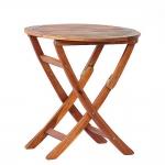 Τραπέζι Στρογγυλό Πτυσσόμενο Ø70x74cm