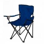 Καρεκλάκι Camping - Ψαρέματος Με Ποτηροθήκη 50x50x80cm Καμβάς Μπλέ