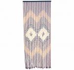 Κουρτίνα Από Ξύλινες Χάντρες Σχέδιο Ρόμβοι Καφέ Μπεζ 90x220cm