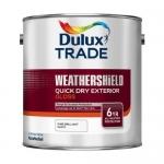 Dulux Trade Weathershield Quick Drying Exterior Gloss Βερνικόχρωμα Νερού Γυαλιστερό Λευκό 1lt
