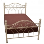 Κρεβάτι Σιδερένιο Κρέμ Αντικέ Ημίδιπλο