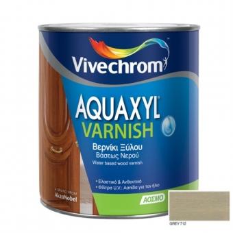 Aquaxyl Varnish Satin 712 Grey Γκρι 750ml